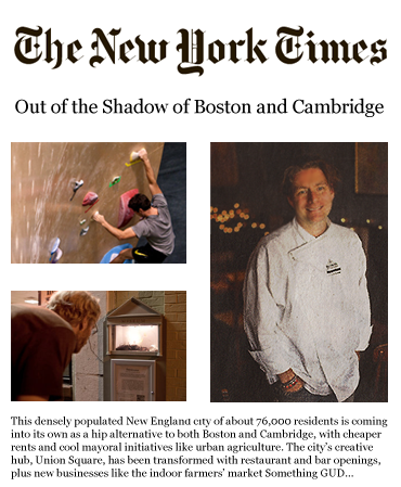 New York Times - Out of the Shadows of Boston and Cambridge - Bronwyn