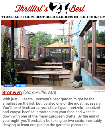 Thrillist - Best Beer Gardens in American - Bronwyn