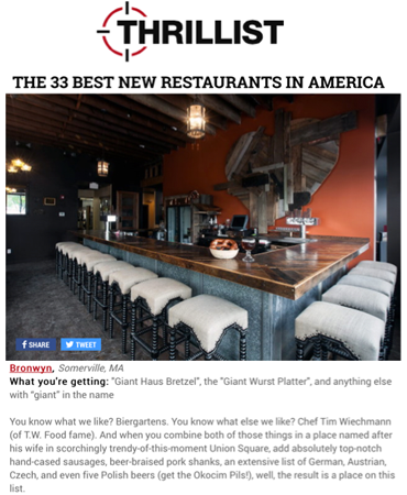 Thrillist - The 33 Best New Restaurants In America - Bronwyn