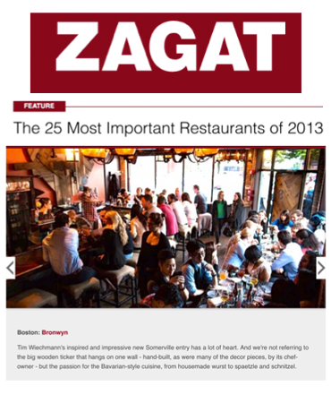Zagat - The 25 Most Important Restaurants of 2013 - Bronwyn