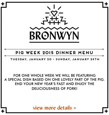 Bronwyn's Pig Week
