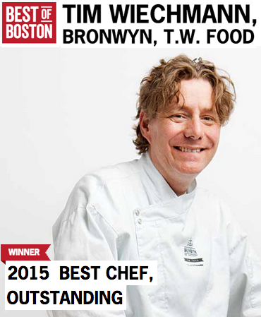 Best of Boston 2015 - Best Chef - Tim Wiechmann, Bronwyn