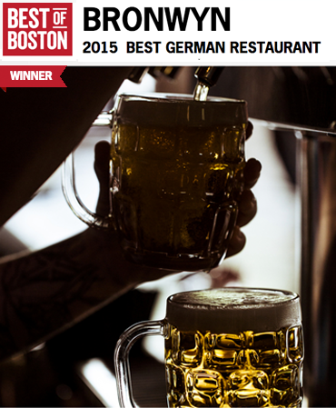 Best of Boston 2015 - Best German Restaurant - Bronwyn