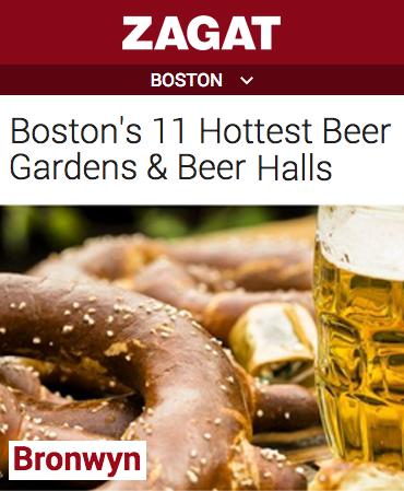 Zagat - 2015 Boston's 11 Hottest Beer Gardens & Beer Halls - Bronwyn