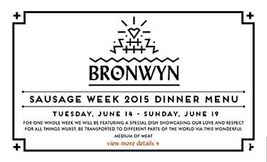Bronwyn's Sausage Week 2016
