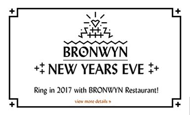 Bronwyn's New Year's Eve Menu