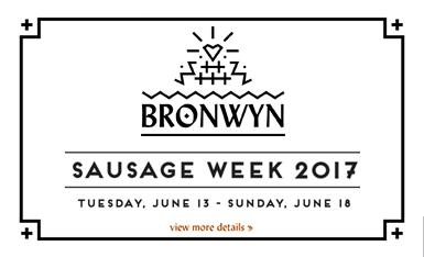 Bronwyn's 2017 Sausage Week